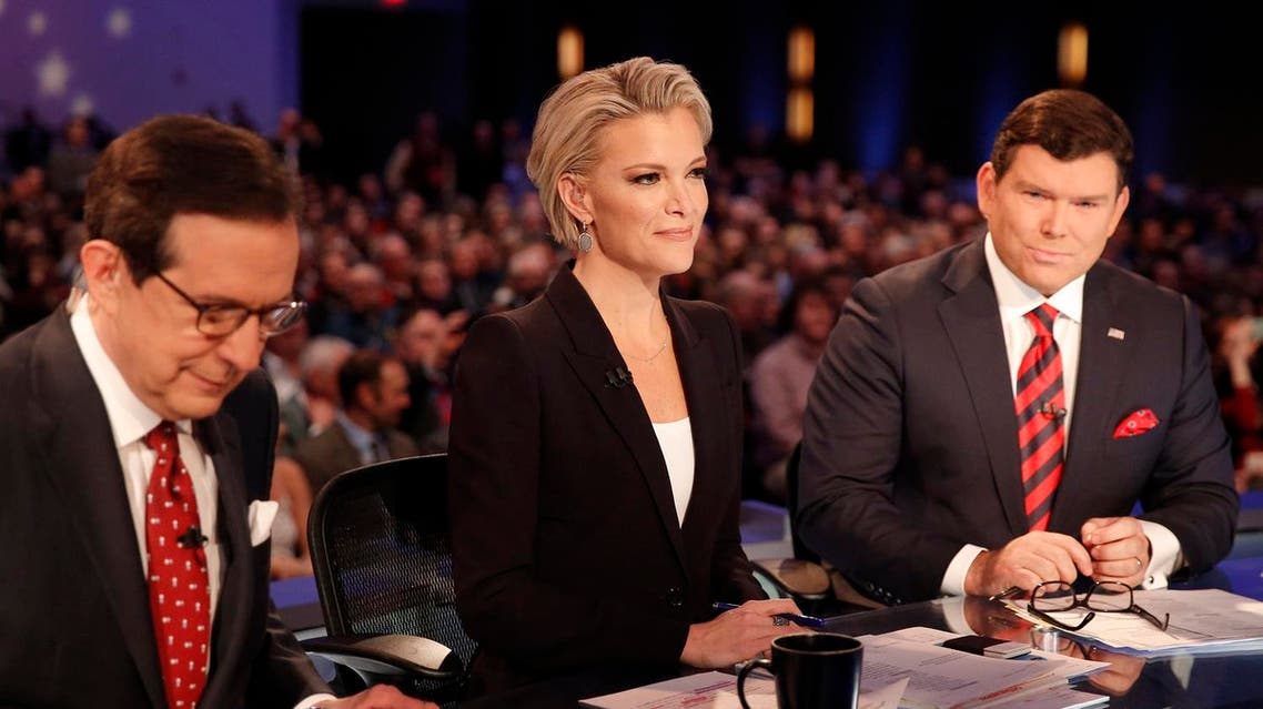 Fox News Channel anchors and debate moderators (L-R) Chris Wallace, Megyn Kelly and Bret Baier begin the Fox News debate for the top 2016 U.S. Republican presidential candidates in Des Moines, Iowa, in this file photo taken January 28, 2015. REUTERS