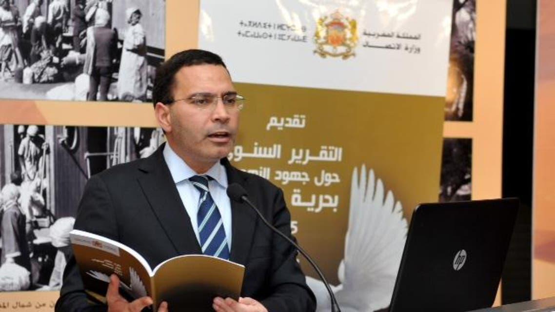 مصطفى الخلفي وزير الاتصال المغربي يقدم التقرير السنوي للنهوض بحرية الصحافة