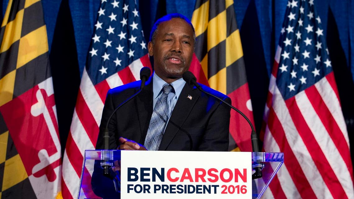 Republican presidential candidate retired neurosurgeon Ben Carson speaks during an election night party in Baltimore, Tuesday, March 1, 2016. (AP)