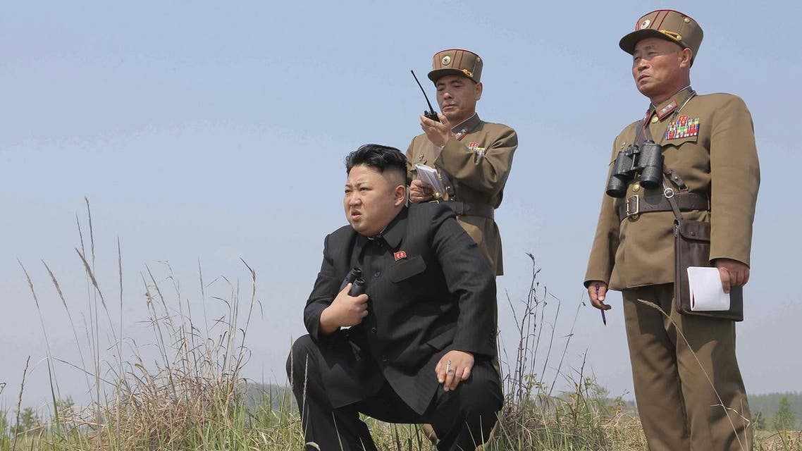 North Korean leader Kim Jong Un (C) guides the multiple-rocket launching drill of women's sub-units under KPA Unit 851, in this undated file photo released by North Korea's Korean Central News Agency (KCNA) April 24, 2014. REUTERS
