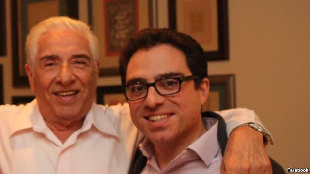 باقر نمازي مع ابنه سياماك