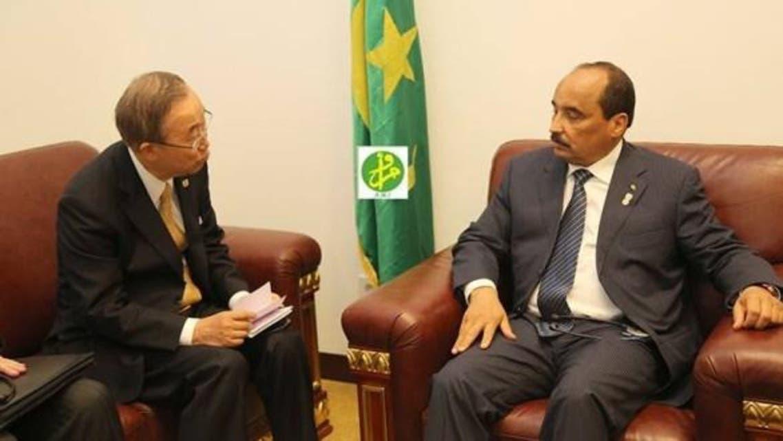 بان كي مون يبحث أوضاع الساحل الإفريقي مع رئيس موريتانيا