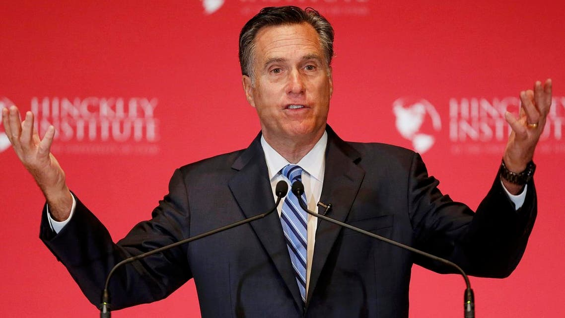 Former Republican U.S. presidential nominee Mitt Romney speaks critically about current Republican presidential candidate Donald Trump during speech in Salt Lake City. (Reuters)