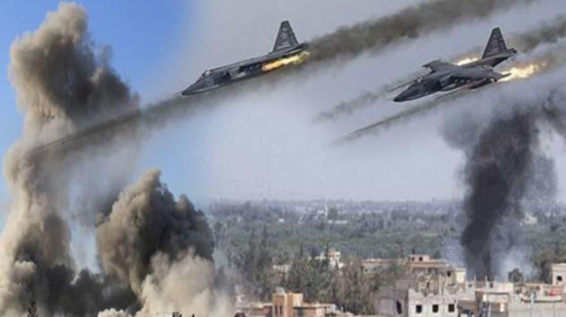 الطيران الروسي يقصف المدنيين بسورية