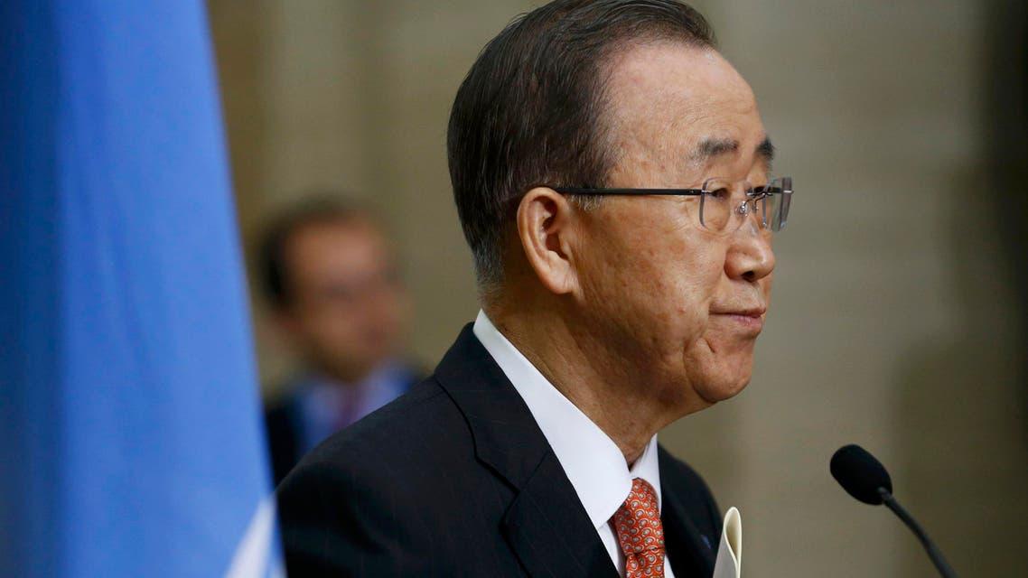 United Nations Secretary-General Ban Ki-moon addresses a news conference at the U.N. European headquarters in Geneva, Switzerland, February 29, 2016. (reuters)