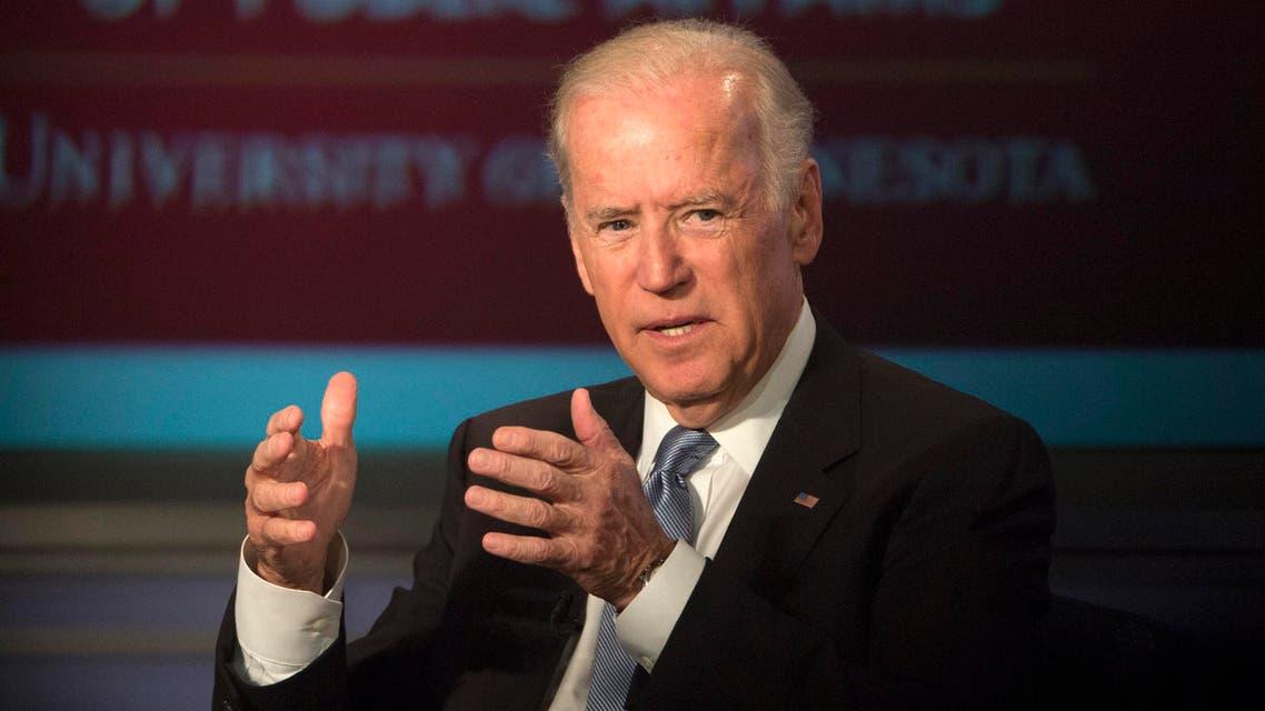 Vice President Joe Biden speaks at George Washington University in Washington, Tuesday, Oct. 20, 2015, during a forum honoring the legacy of former Vice President Walter Mondale. (AP