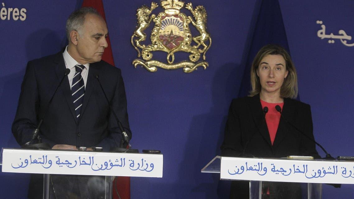فيديريكا موغيريني مع صلاح الدين مزوار