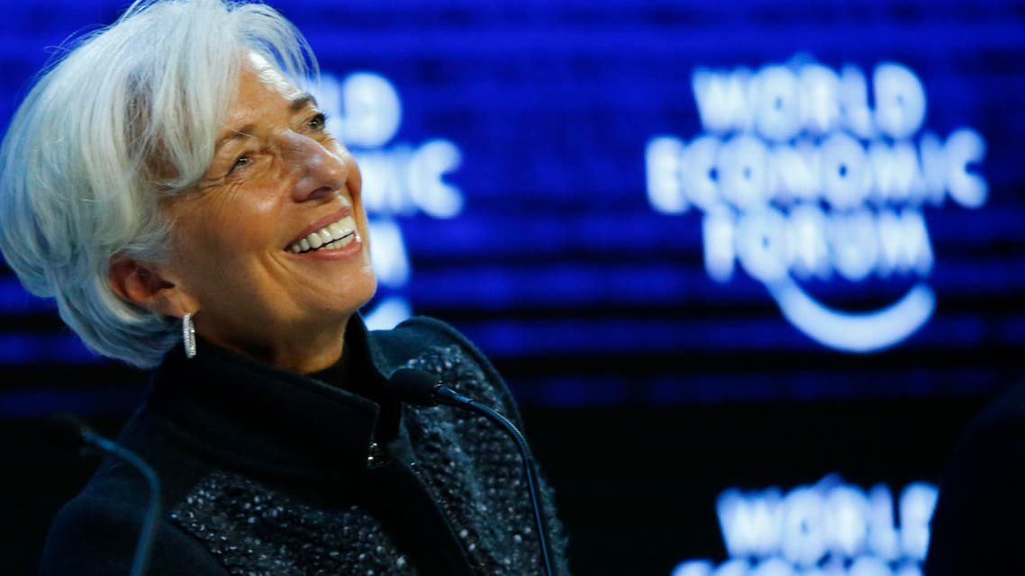 Caption: Christine Lagarde, Managing Director of the International Monetary Fund (IMF) attends a session during the annual meeting of the World Economic Forum in Davos, Switzerland, in this January 23, 2016 file photo. (Reuters)