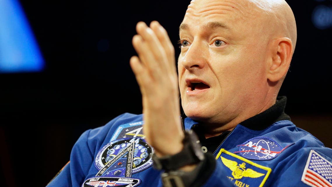 NASA astronaut Scott Kelly speaks during a press conference Friday, March 4, 2016, in Houston. Kelly set a U.S. record with his 340-day mission to the International Space Station. (AP Photo/Pat Sullivan)