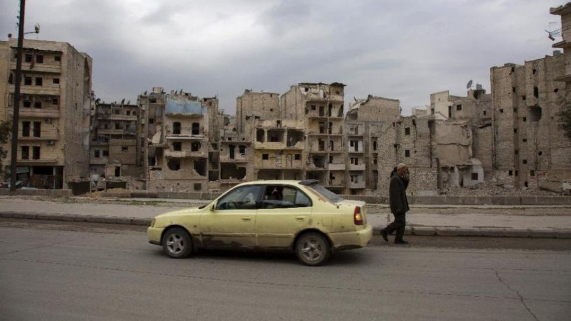 One week into the ceasefire in parts of Syria, the country's iconic yellow taxis are slowly filling the rubble-strewn streets in eastern neighbourhoods (AFP)