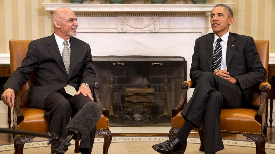 In this March 24, 2015 file photo, President Barack Obama meets with Afghanistan's President Ashraf Ghani in the Oval Office of the White House in Washington. Russia's aggressiveness in the east. AP