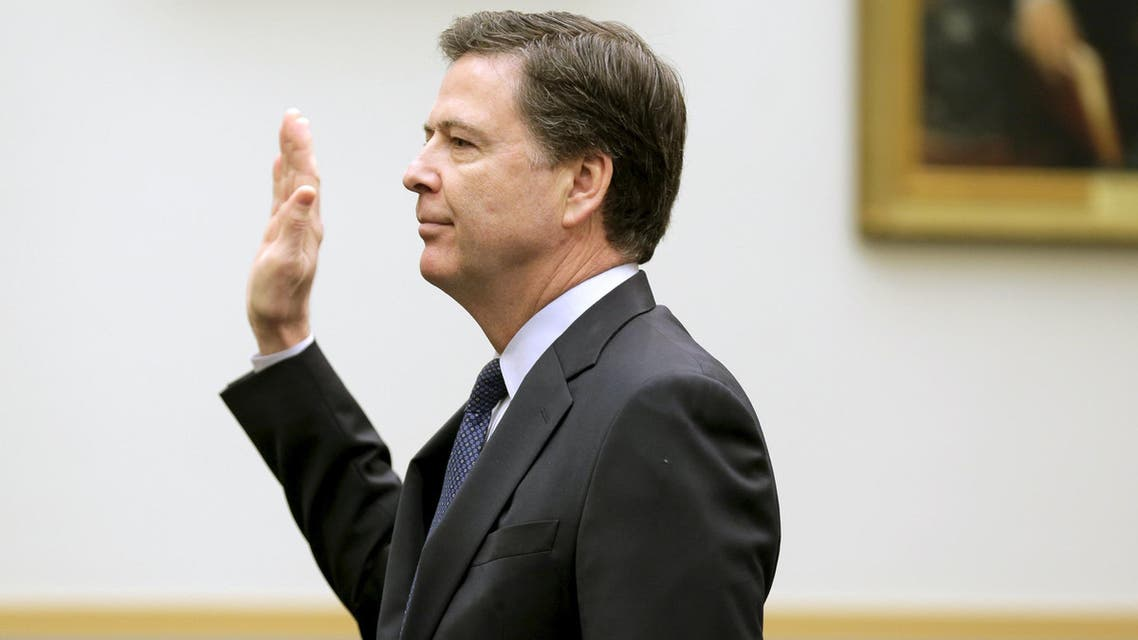 """FBI Director James Comey is sworn in during a House Judiciary hearing on """"The Encryption Tightrope: Balancing Americans' Security and Privacy"""" on Capitol Hill in Washington March 1, 2016. (File photo: Reuters)"""