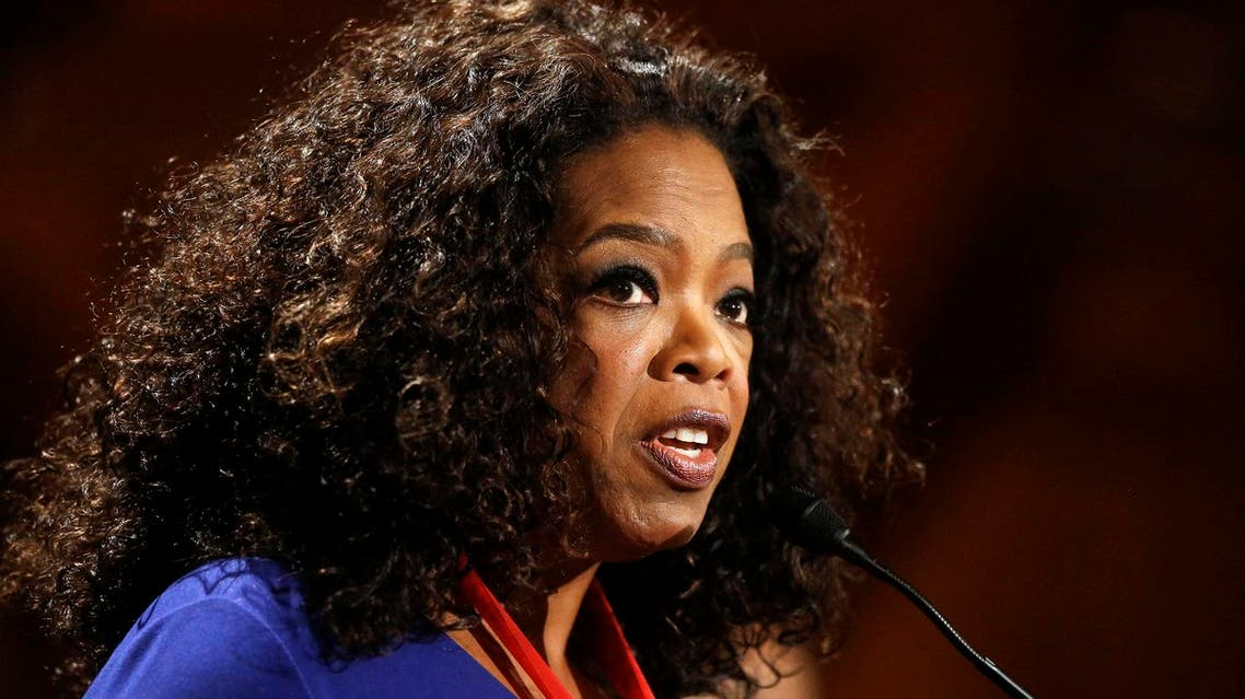 In this Tuesday, Sept. 30, 2014, file photo, actor, talk show host and philanthropist Oprah Winfrey addresses an audience after accepting the W.E.B. Du Bois medal during ceremonies, on the campus of Harvard University, in Cambridge, Mass. A number of high-profile entertainers, including Winfrey, Mary J. Blige, Charlize Theron and Meryl Streep, have signed an open letter calling on world leaders to fight for gender equality across the globe. The letter, released Sunday, March 6, 2016, states that some 62 million girls are denied the right to education, 500,000,000 women can't read and 155 countries have laws that discriminate against women. (AP Photo)