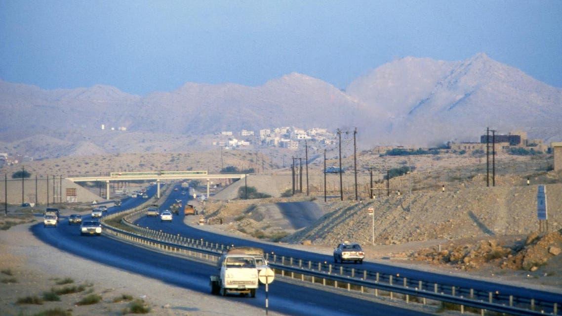 Modern roadway takes traffic into Muscat, Oman in 1980. (Bill Foley/AP Photo)