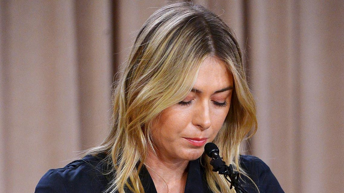 Maria Sharapova speaks to the media announcing a failed drug test after the Australian Open during a press conference. (Reuters)