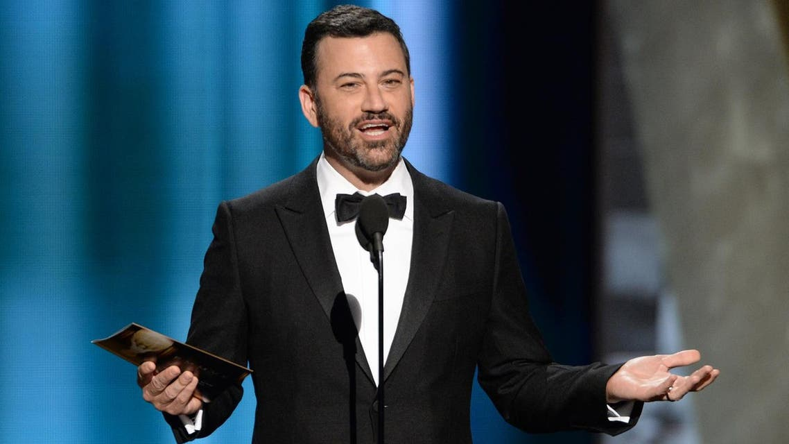 Jimmy Kimmel presents the award for outstanding lead actor in a comedy series at the 67th Primetime Emmy Awards on Sunday, Sept. 20, 2015. (AP)