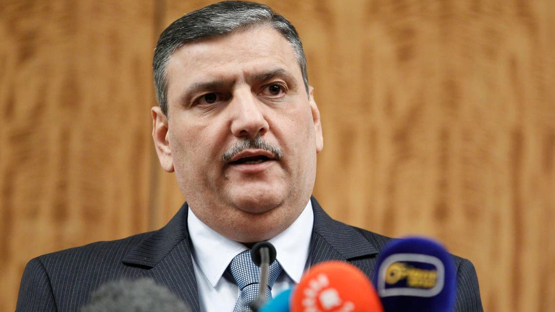 Riad Hijab, Syrian opposition coordinator for the High Negotiations Committee (HNC) attends a news conference after the Geneva peace talks were paused in Geneva, Switzerland, February 3 , 2016. (Reuters)