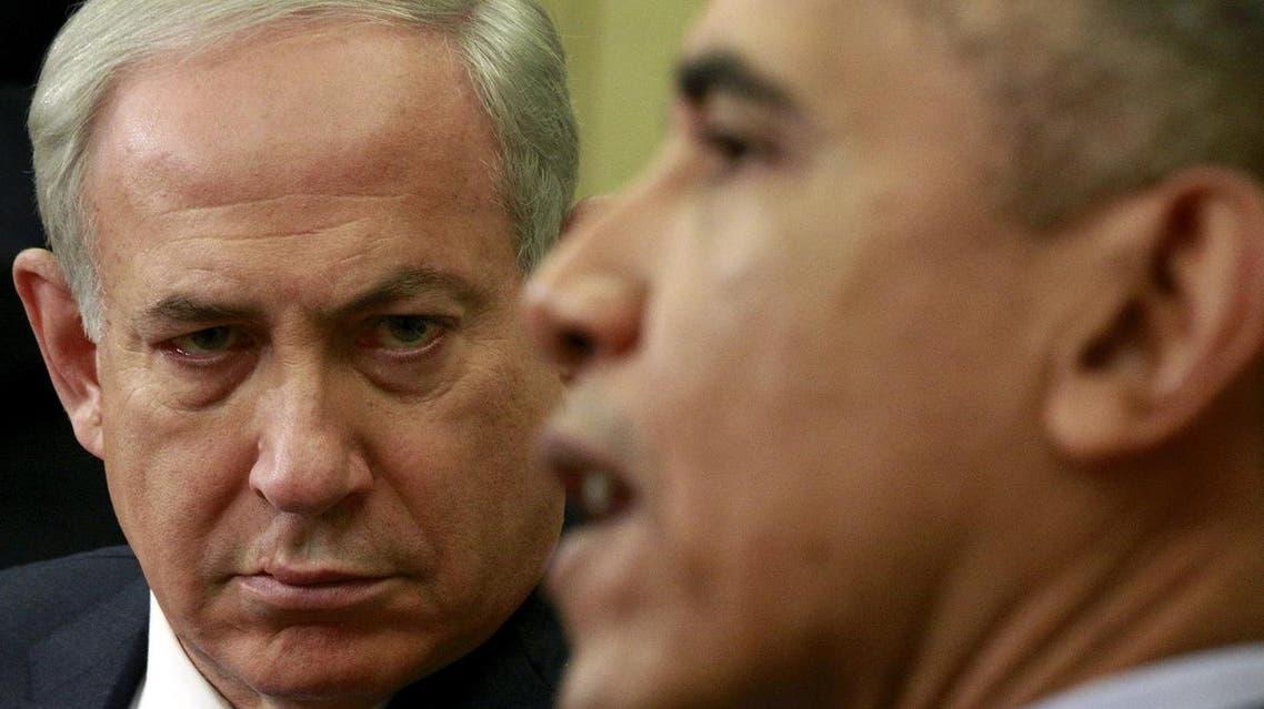 Israeli Prime Minister Benjamin Netanyahu listens as U.S. President Barack Obama speaks during their meeting in the Oval office of the White House in Washington November 9, 2015. (Reuters)