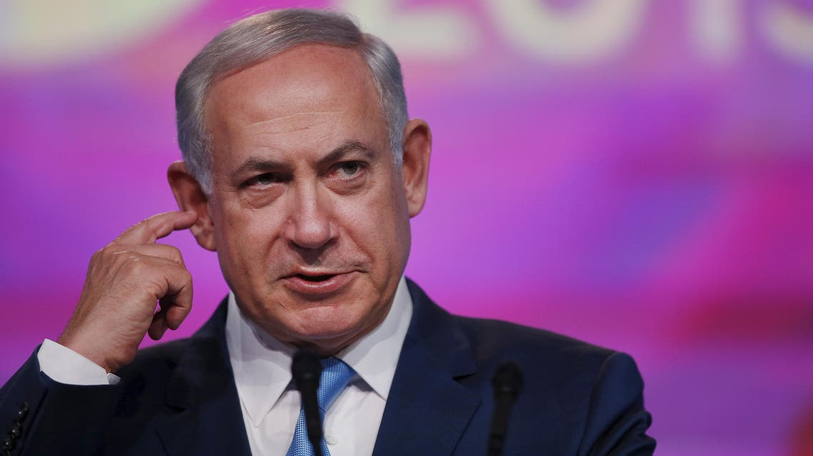Israeli Prime Minister Benjamin Netanyahu delivers a speech at the Jewish Federations of North America 2015 General Assembly in Washington November 10, 2015. (Reuters)