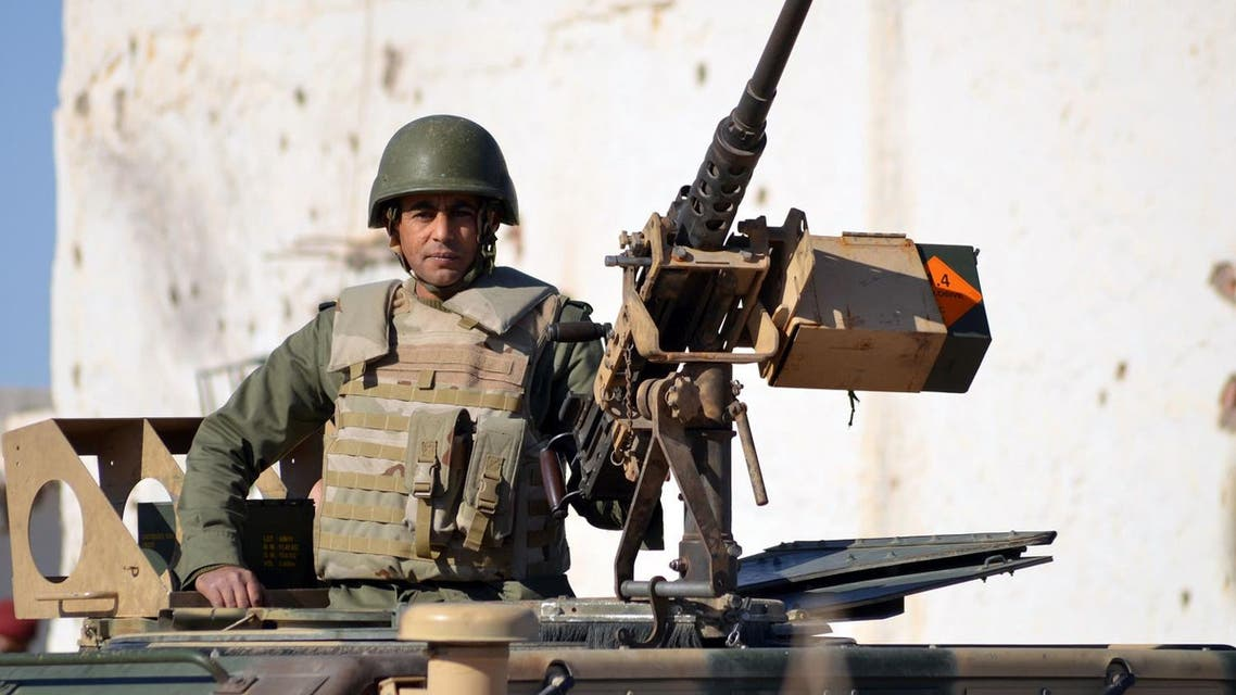 A member of the Tunisian special forces patrol in the southern town of Ben Guerdane, near the Libyan border. (AFP)