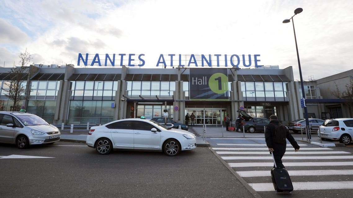 This file photo taken on January 15, 2013 shows the main entrance of the Hall 1 at the Nantes-Atlantique airport in Bouguenais western France AFP