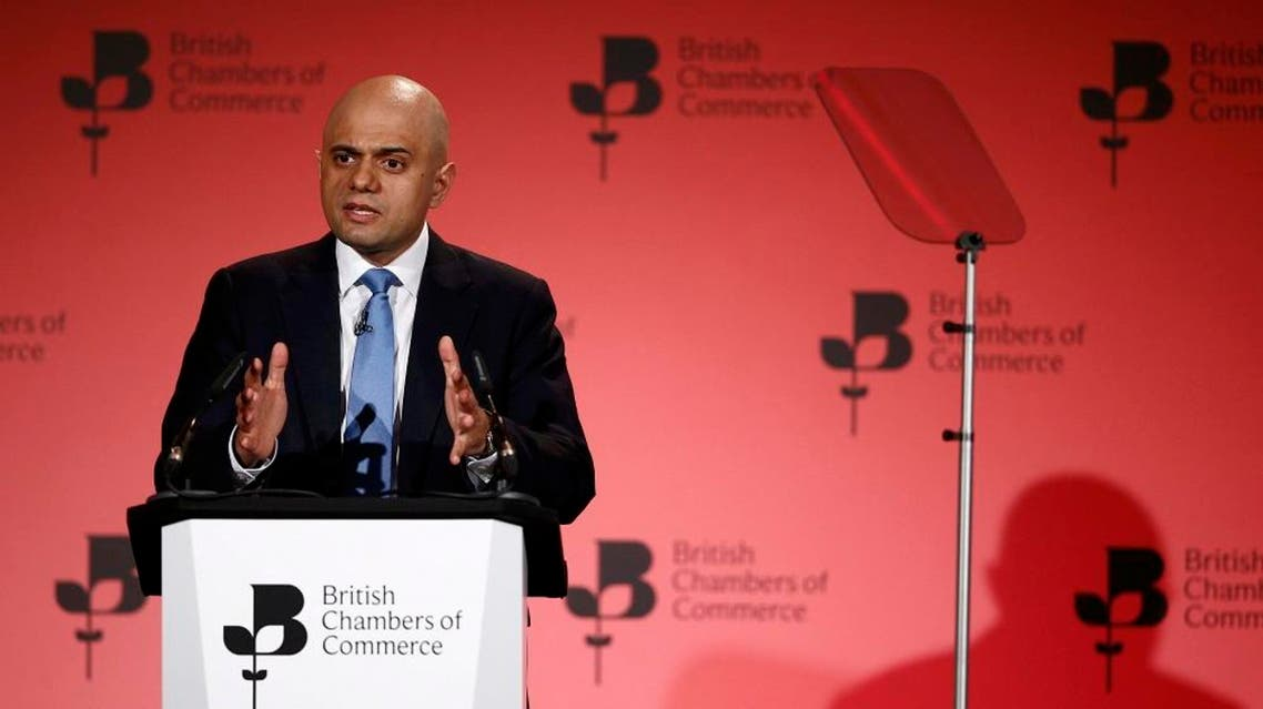 Britain's Business Secretary Sajid Javid speaks at the British Chambers of Commerce annual conference in London, Britain March 3, 2016 (Reuters)