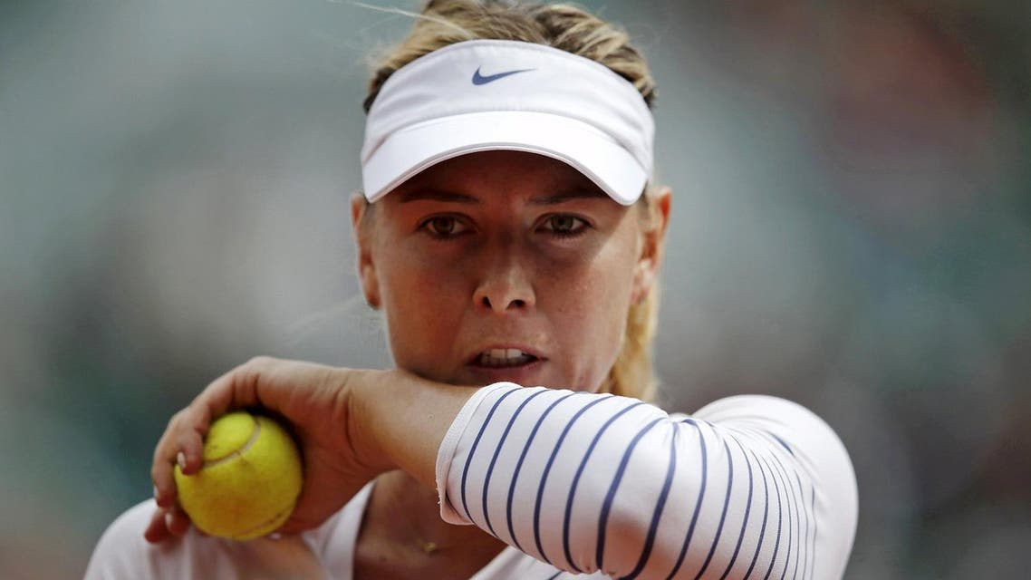 File picture of Maria Sharapova of Russia during her women's singles match at the French Open tennis tournament in Paris. (Reuters)