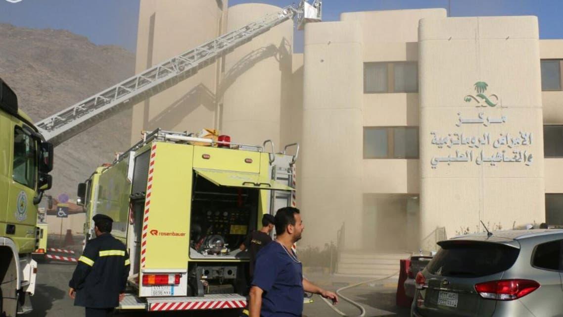 حريق بمشفى مكة
