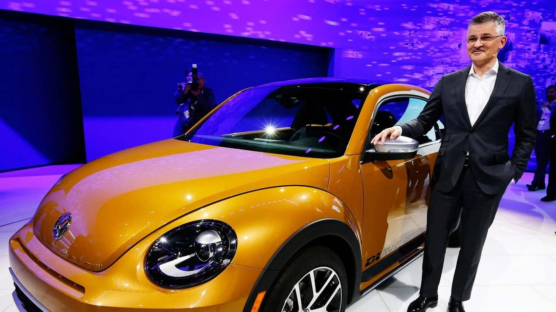 Michael Horn, President and CEO of Volkswagen America, introduces the new Beetle Dune at the LA Auto Show in Los Angeles, California, United States in a November 18, 2015 file photo. (Reuters)