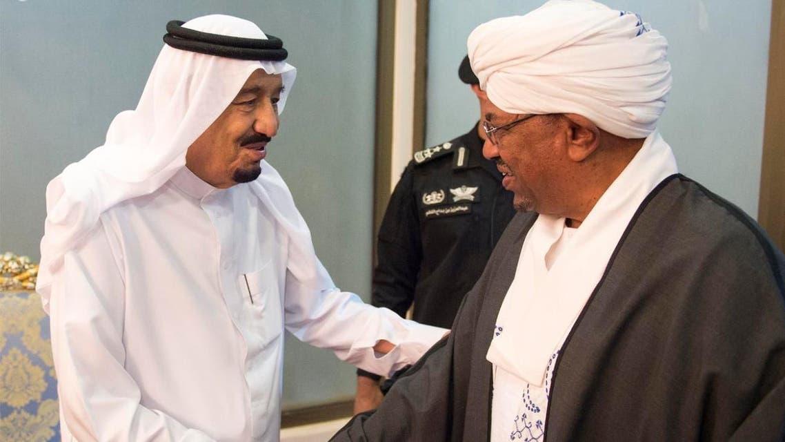 الملك سلمان يستقبل الرئيس السوداني عمر البشير