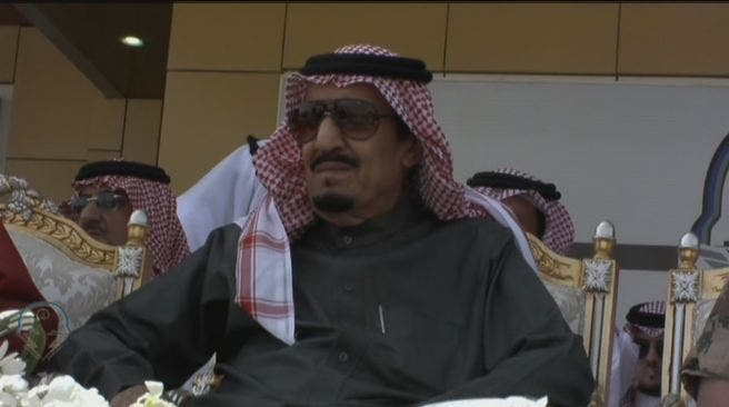 Saudi King Salman attends the ceremony. (Al Arabiya)