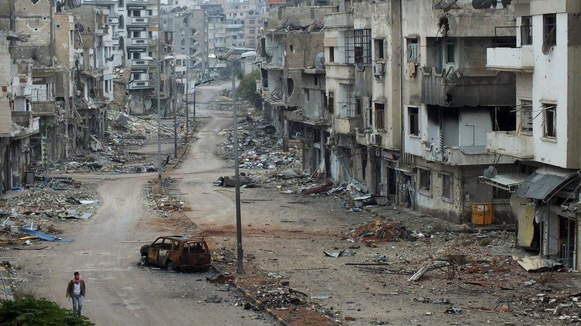 خمس سنوات على الأزمة السورية- دمار في سوريا