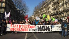 French state of emergency laws spark large protests in Paris