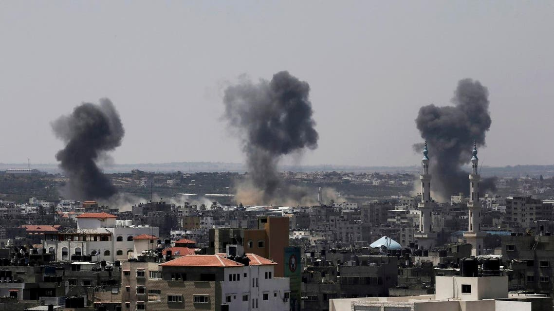 Smoke rises after Israeli missile strikes hit the northern Gaza Strip, Wednesday, July 16, 2014. A Hamas website says Israel has fired missiles at the homes of four of its senior leaders as it resumed bombardment of Gaza, following a failed Egyptian cease-fire effort. Wednesday's bombings came after Hamas rejected an Egyptian truce proposal on Tuesday and instead launched more rockets at Israel. (AP)