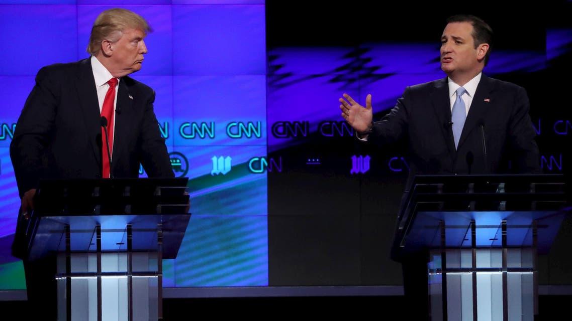 مناظرة بين تيد كروز ودونالد ترامب