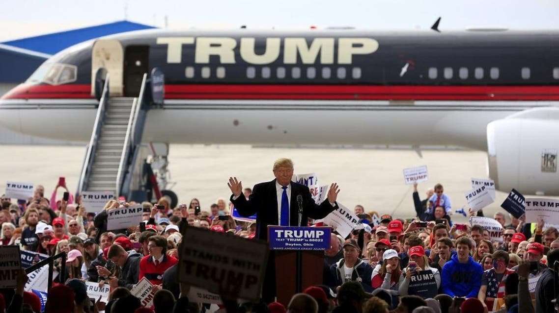 U.S. Republican presidential candidate Donald Trump speaks at Dayton International Airport in Dayton, Ohio March 12, 2016 (Reuters)