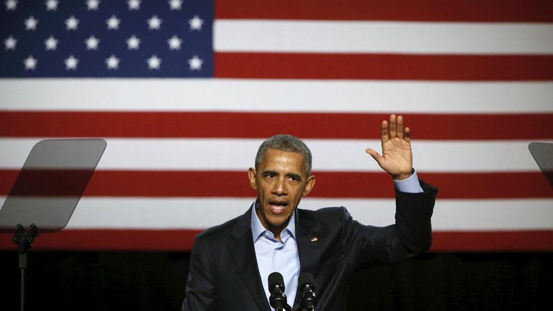 U.S. President Barack Obama concludes remarks to supporters at a Democratic National Committee (DNC) event at Gilley's Club in Dallas, Texas March 12, 2016. REUTERS