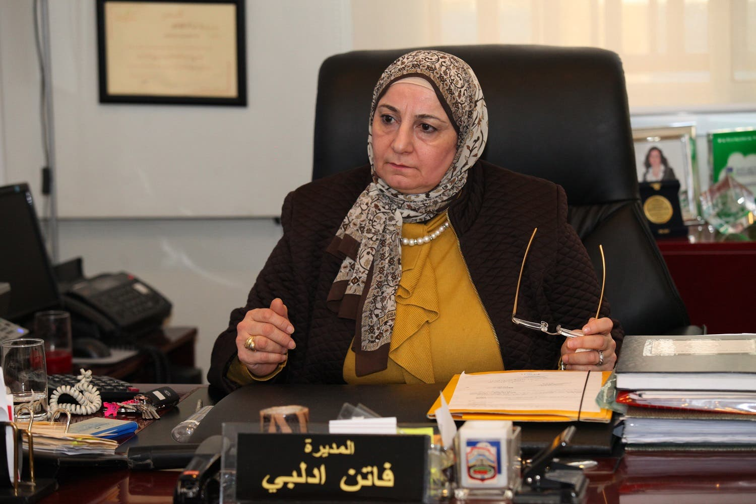 Beirut's Mohammed Shamel Public School director, Faten Edlby (Photo: Roudy Lattouf)