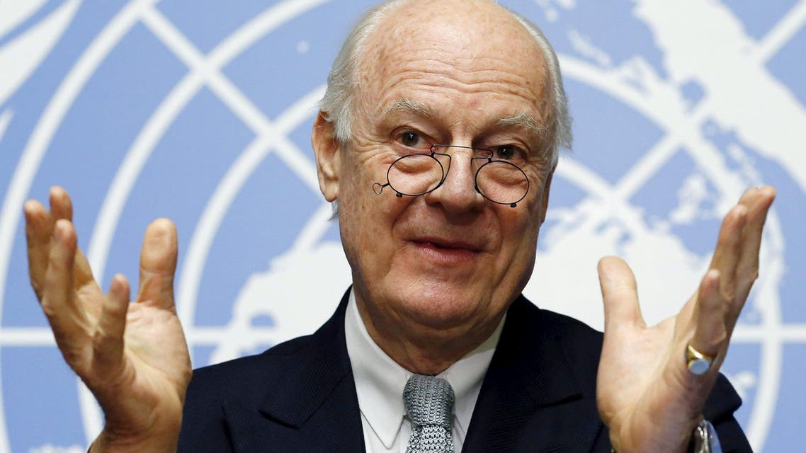 U.N. mediator for Syria Staffan de Mistura gestures during a news conference at the United Nations in Geneva, Switzerland, in this January 25, 2016 file photo. (Reuters)