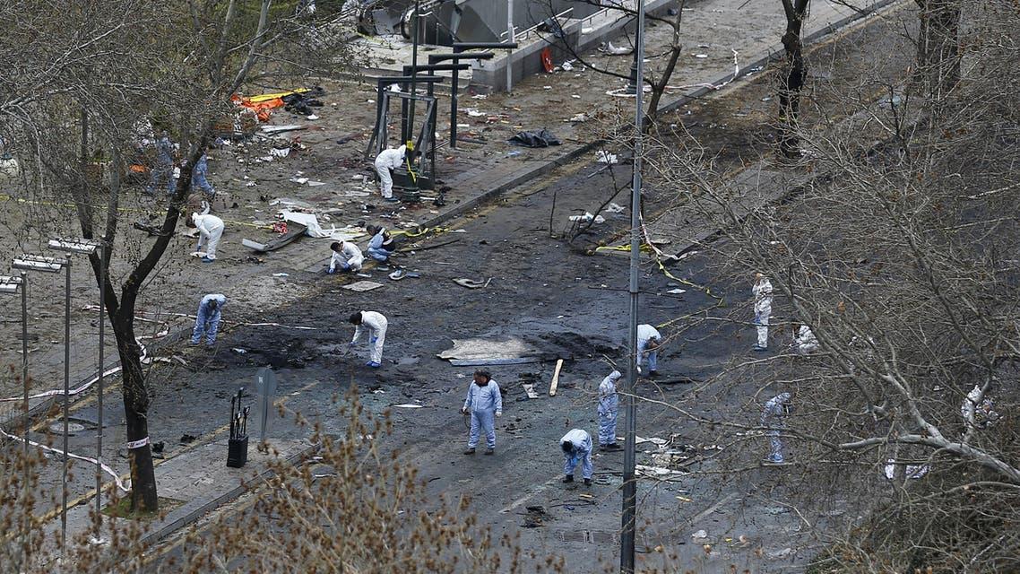 من آثار الانفجار انقرة تركيا