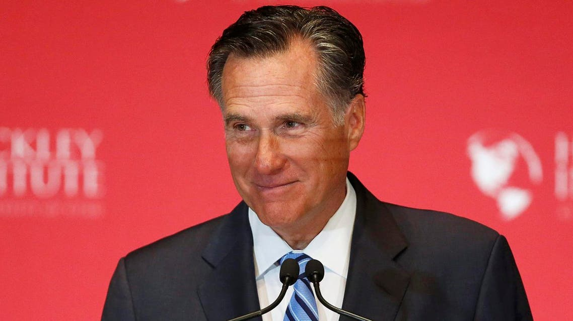 Former Republican U.S. presidential nominee Romney pauses and smiles as he delivers a speech criticizing current Republican presidential candidate Donald Trump in Salt Lake City. (Reuters)