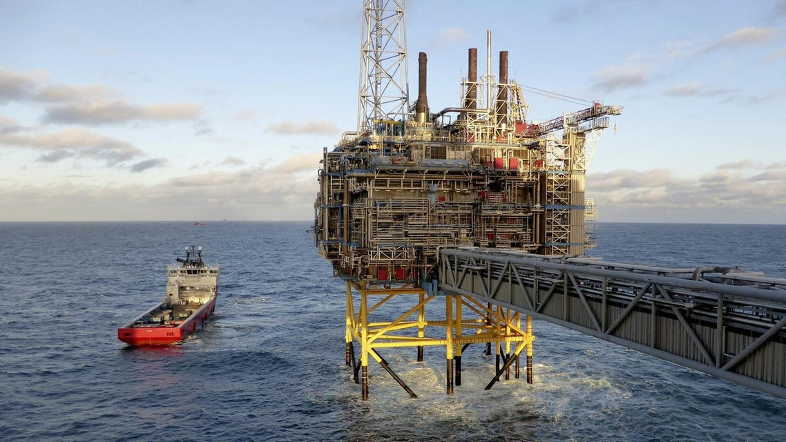 File photo shows oil and gas company Statoil gas processing and CO2 removal platform Sleipner T in the offshore near the Stavanger. (Reuters)