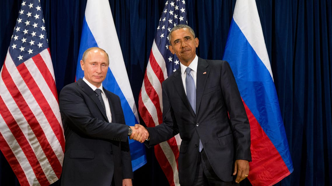 United States President Barack Obama and Russia's President President Vladimir Putin pose for members of the media before a bilateral meeting on Sept. 28, 2015, at United Nations headquarters. (AP)