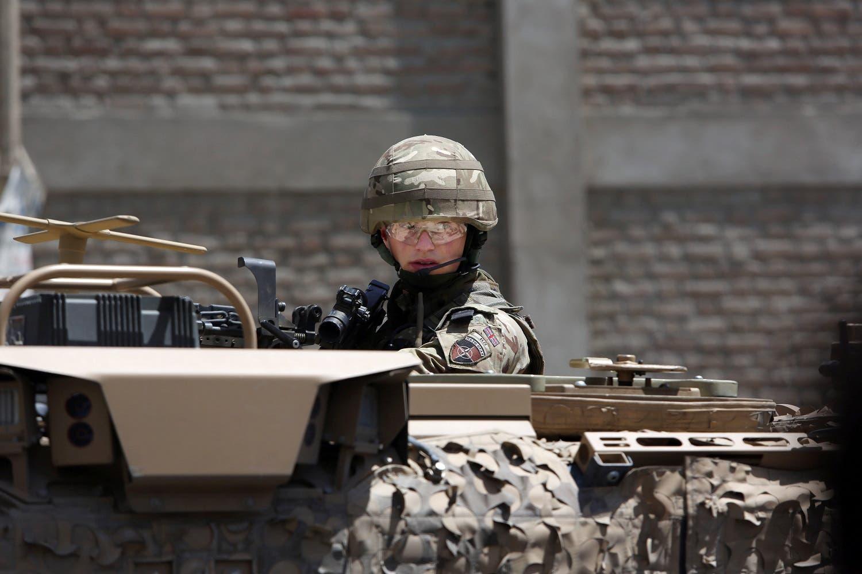 جندي أميركي في مهمة بأفغانستان