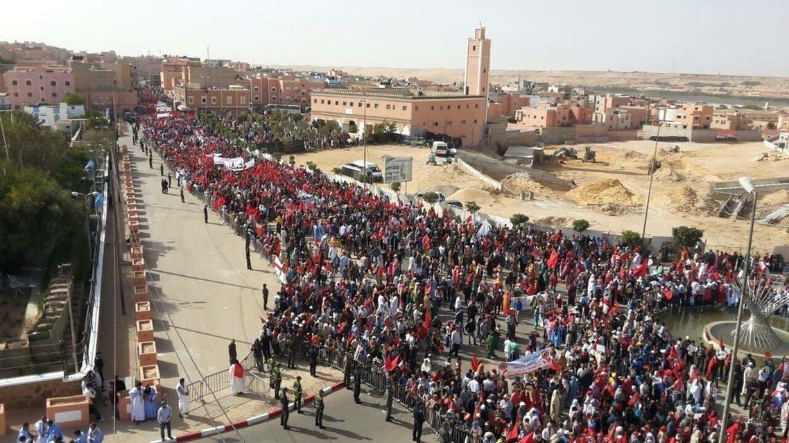 احتجاجات مغربية ضد بان كي مون