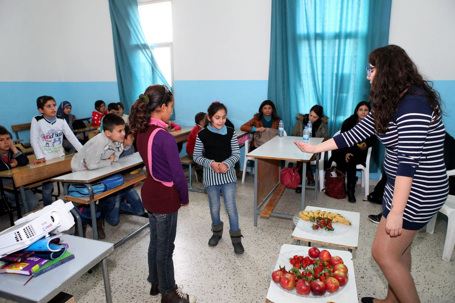 Official School for Boys in Lebanon's Cosba, teacher Nayla Batach  (Photo: Roudy Lattouf)o: Roudy Lattouf)
