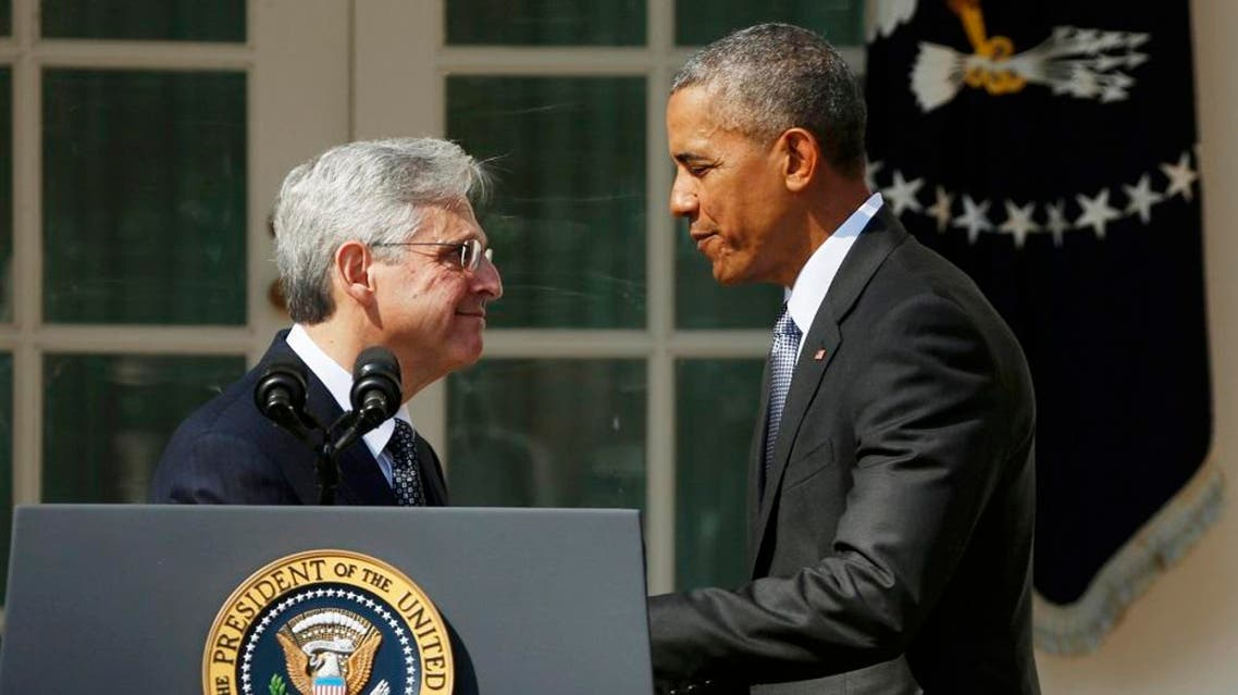 US President Barack Obama announces Judge Merrick Garland of the United States Court of Appeals as his nominee for the US Supreme Court at White House in Washington. (Reuters)