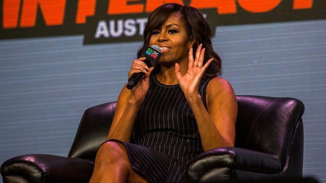 First lady Michelle Obama participates in a panel discussion during SXSW on March 16, 2016 in Austin, Texas. (AFP)