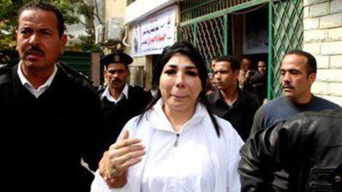 غادة إبراهيم  تبكي بعد براءتها