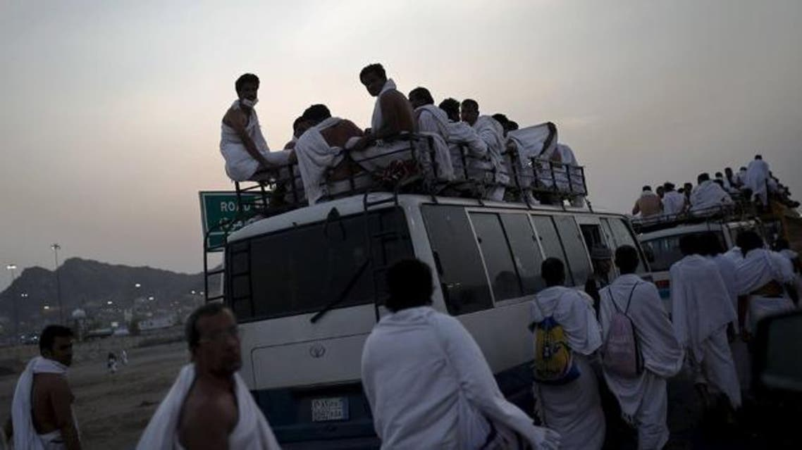 Muslim pilgrims travel on buses at Arafat during the annual haj pilgrimage, outside the holy city of Mecca September 23, 2015. (File photo: Reuters)